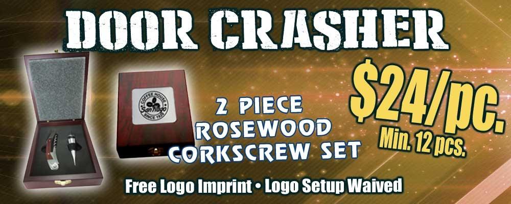 Rosewood Corkscrew Set